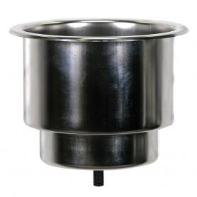 Whitecap Flush Cupholder w-Drain - 302 Stainless Steel