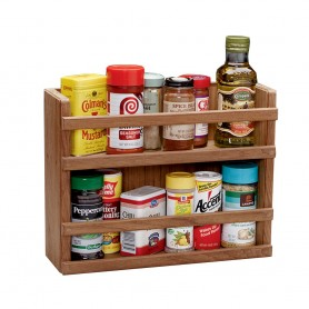 Whitecap Teak Two-Tier Spice Rack