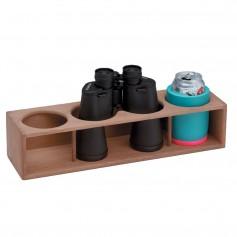 Whitecap Teak Four Insulated Drink-Binocular Rack